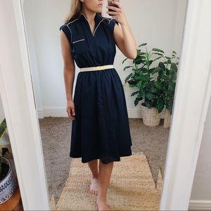 Vintage • Short Sleeve Cotton Dress